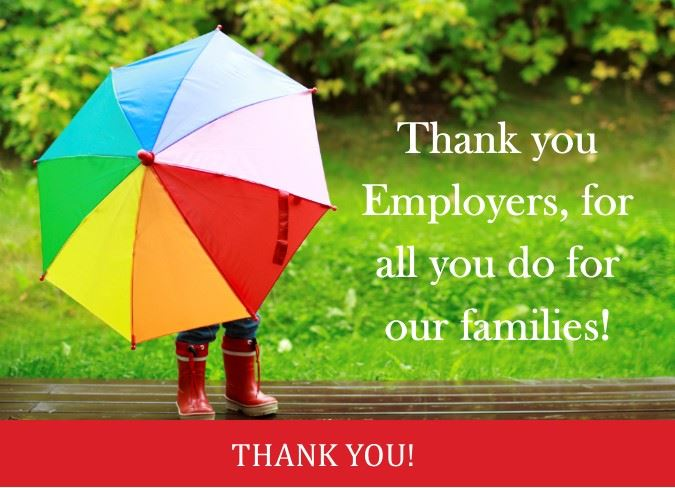 Employers, thank you for all that you do thankyou card