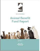 2017 Animal Benefit Fund Report Cover Opens in new window