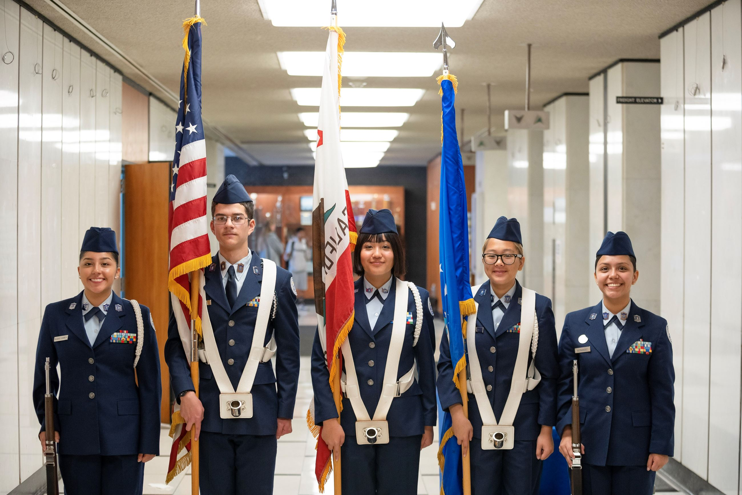 Color Guard preparing to enter chamber