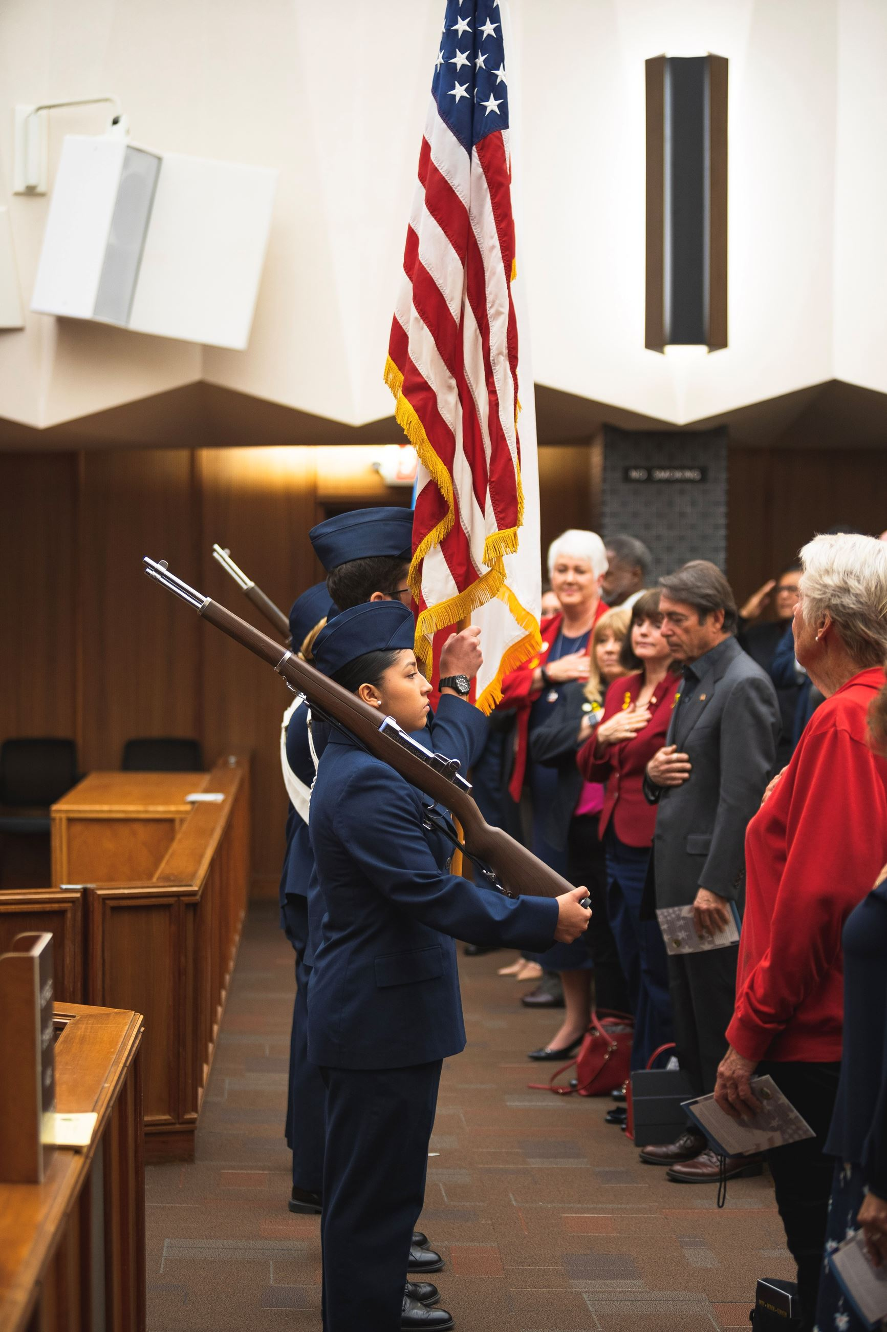 Color Guard presentation