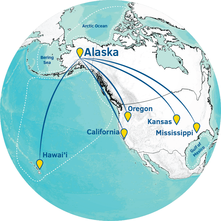 Alaska Center for Unmanned Aircraft Systems Integration globe image